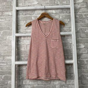 Madewell Whisper Cotton V-Neck Tank Size Small